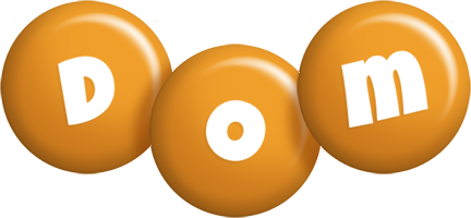 Dom candy-orange logo