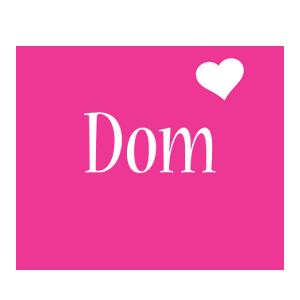 Dom love-heart logo