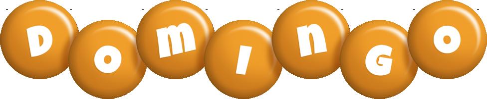 Domingo candy-orange logo