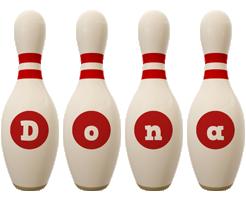 Dona bowling-pin logo