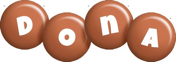 Dona candy-brown logo