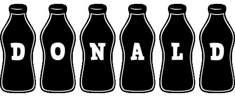 Donald bottle logo