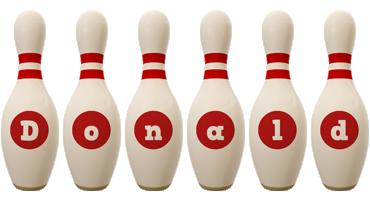 Donald bowling-pin logo