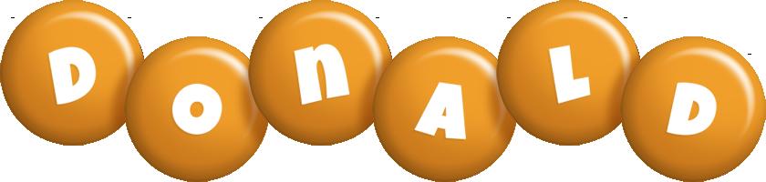 Donald candy-orange logo