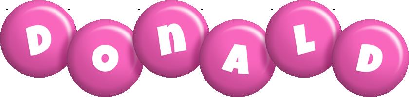 Donald candy-pink logo