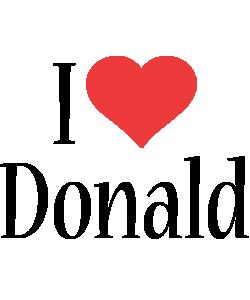 Donald i-love logo