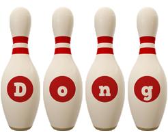 Dong bowling-pin logo