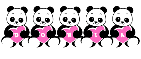 Donia love-panda logo