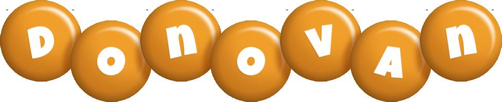 Donovan candy-orange logo