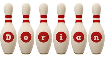 Dorian bowling-pin logo