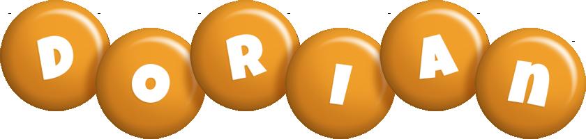 Dorian candy-orange logo