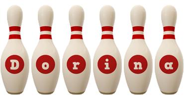 Dorina bowling-pin logo