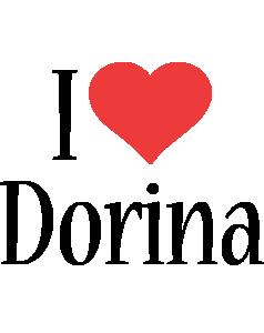 Dorina i-love logo