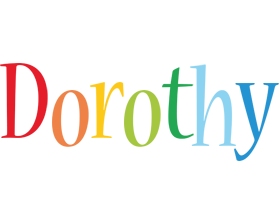 Dorothy birthday logo