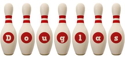 Douglas bowling-pin logo