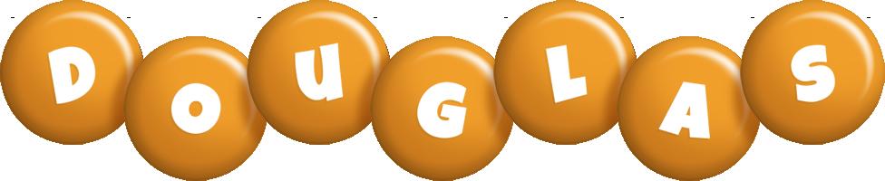 Douglas candy-orange logo