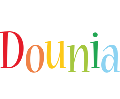 Dounia birthday logo