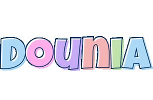 Dounia pastel logo