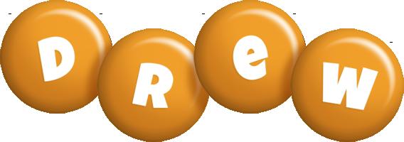 Drew candy-orange logo