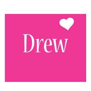 Drew love-heart logo