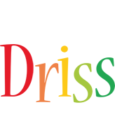 Driss birthday logo