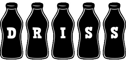Driss bottle logo