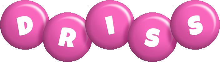 Driss candy-pink logo