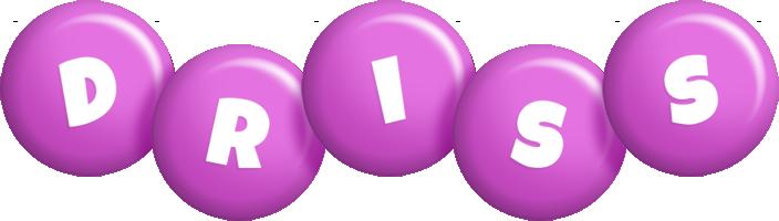 Driss candy-purple logo