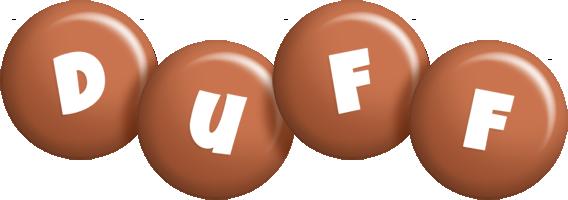 Duff candy-brown logo