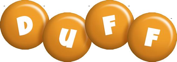 Duff candy-orange logo