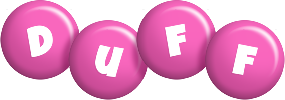 Duff candy-pink logo