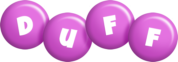 Duff candy-purple logo