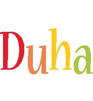 Duha birthday logo