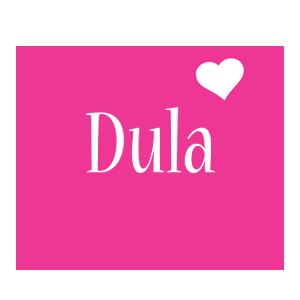 Dula love-heart logo