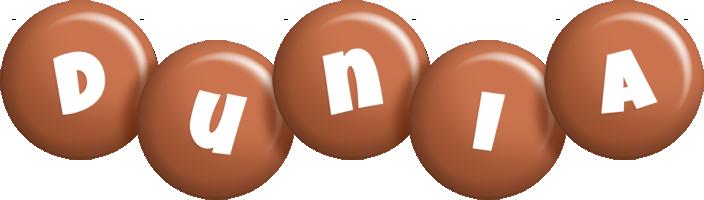 Dunia candy-brown logo