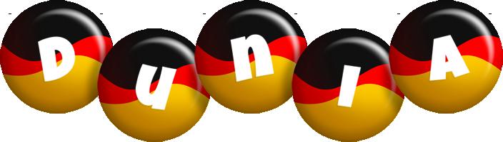 Dunia german logo