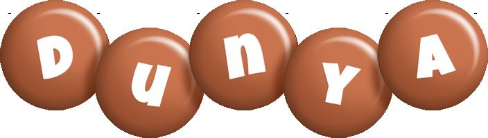 Dunya candy-brown logo
