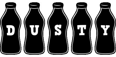 Dusty bottle logo