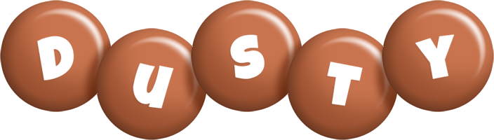 Dusty candy-brown logo