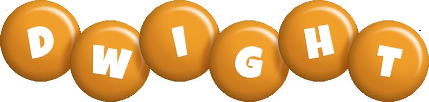 Dwight candy-orange logo