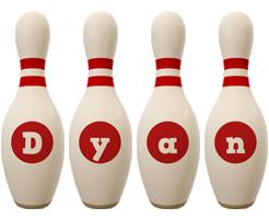 Dyan bowling-pin logo