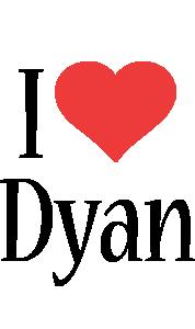 Dyan i-love logo