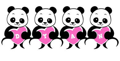 Dyan love-panda logo