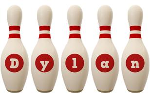 Dylan bowling-pin logo