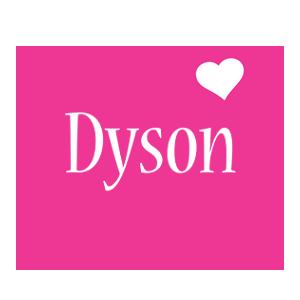 Dyson love-heart logo