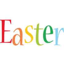 Easter birthday logo