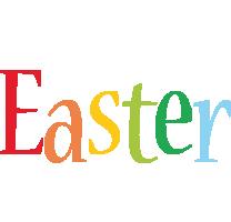 Easter birthday logo