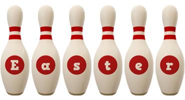 Easter bowling-pin logo