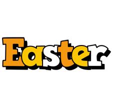 Easter cartoon logo