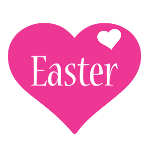 Easter love-heart logo